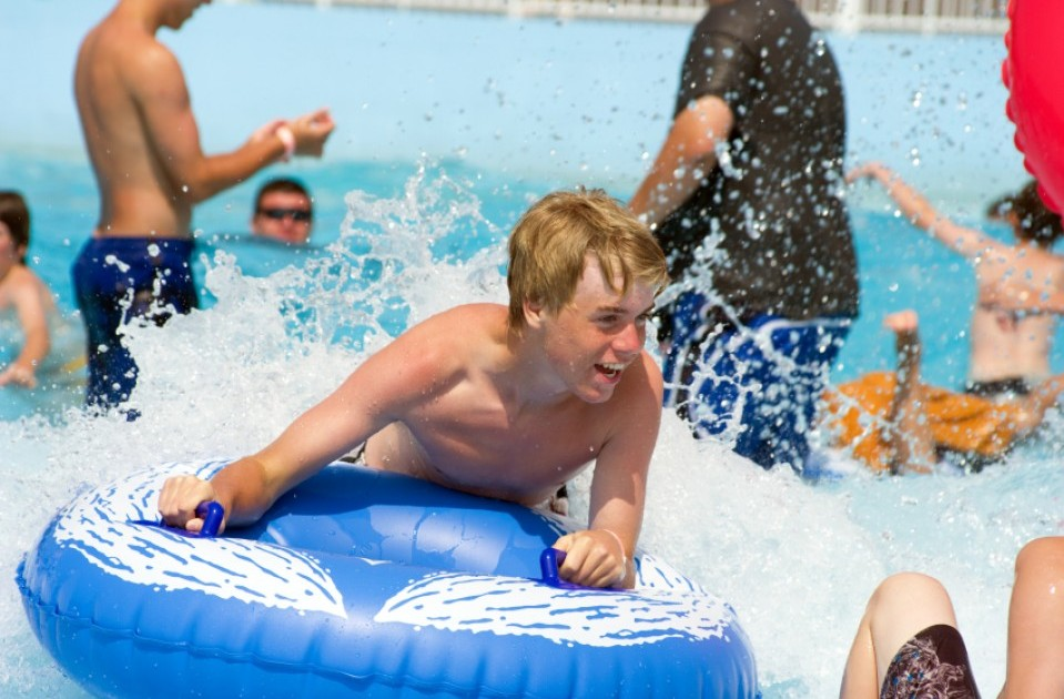 Men and boys at waterpark — pic 5
